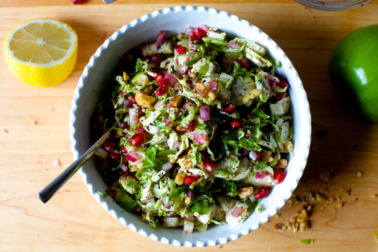 Brussels Sprouts, Apple & Pomegranate Salad