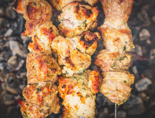 Lime & Mint Marinated Chicken Skewers